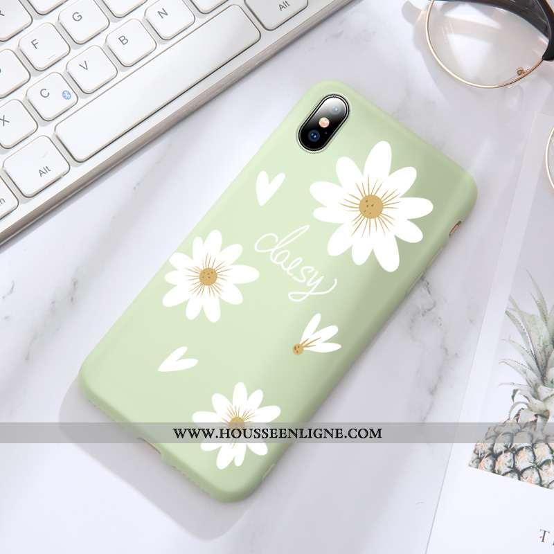 Étui iPhone Xs Silicone Protection Incassable Personnalité Tout Compris Tendance Verte