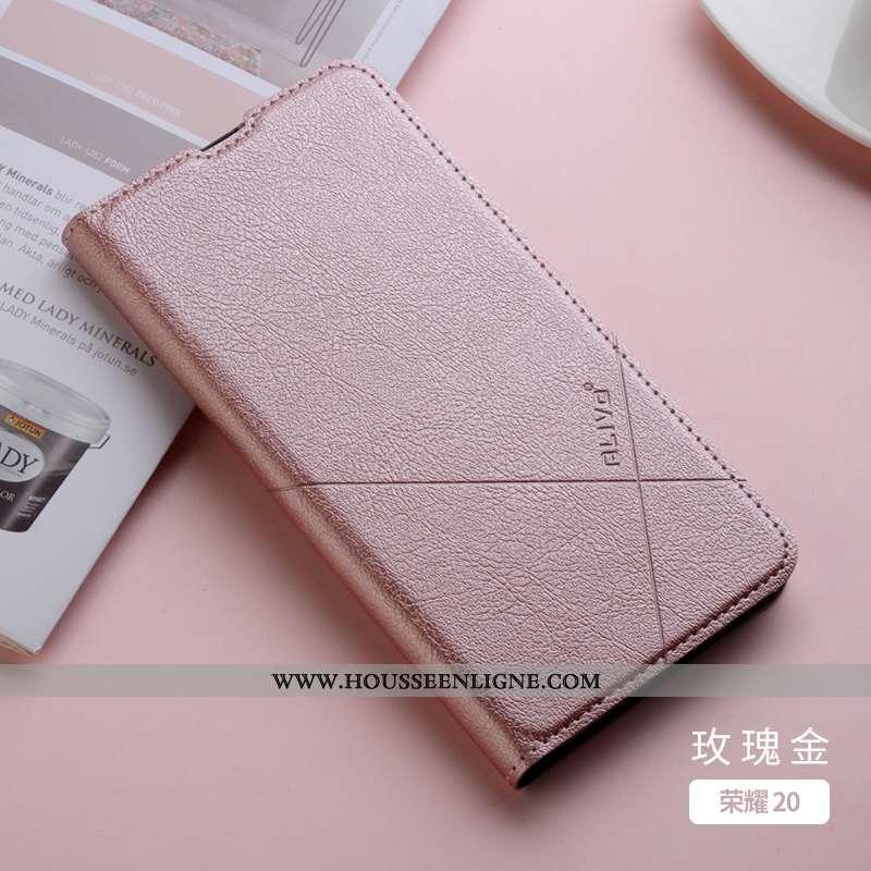 Coque Honor 20 Légère Cuir Tout Compris Clamshell Ultra Téléphone Portable Jeunesse Rose