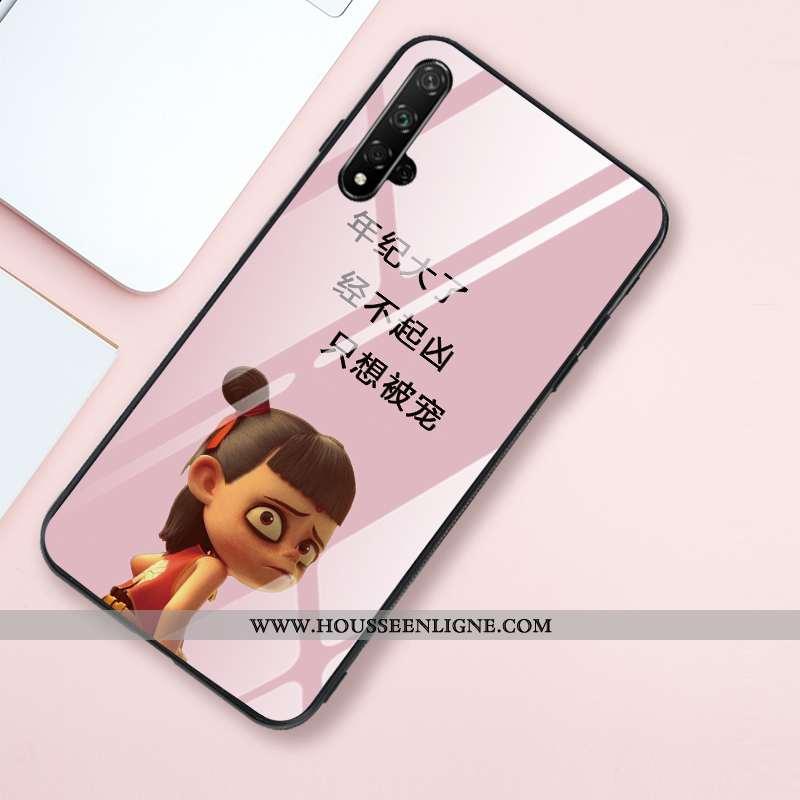 Coque Honor 20 Personnalité Créatif Style Chinois Silicone Rose Net Rouge Téléphone Portable