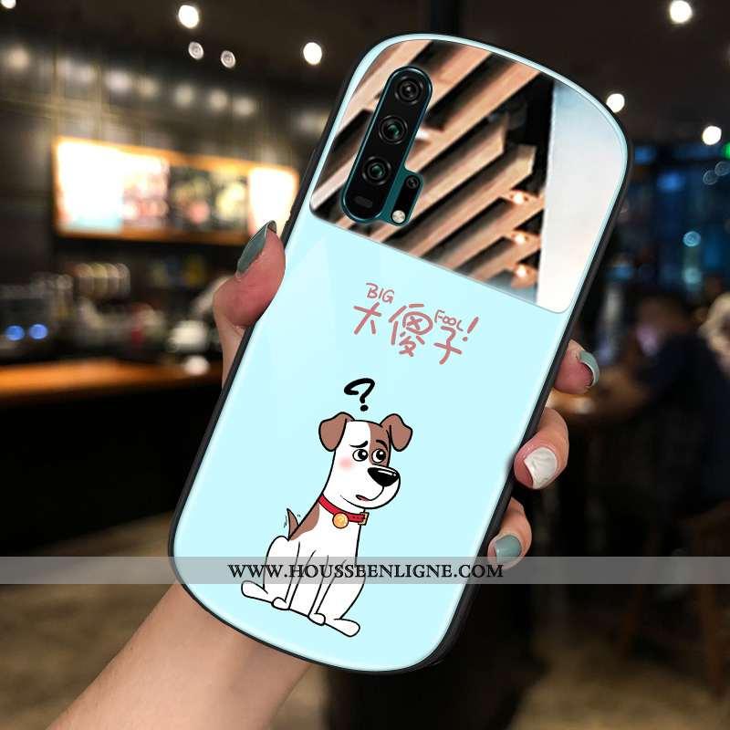 Coque Honor 20 Pro Charmant Verre Bleu Téléphone Portable Amoureux Net Rouge Nouveau