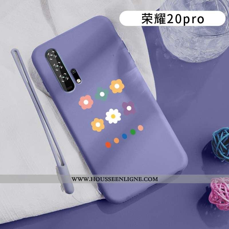Coque Honor 20 Pro Délavé En Daim Ornements Suspendus Amoureux Téléphone Portable Tout Compris Légèr