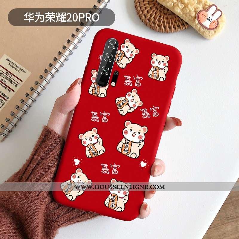 Coque Honor 20 Pro Silicone Protection Étui Incassable Légère Rat Rouge