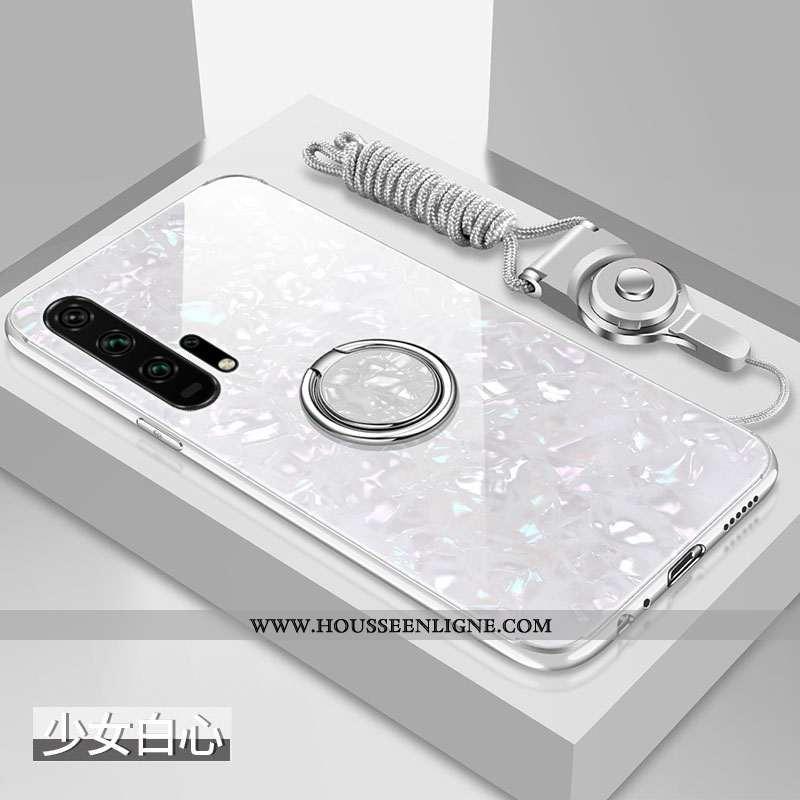 Coque Honor 20 Pro Silicone Protection Difficile Fluide Doux Verre Étui Blanche