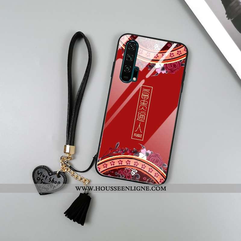 Coque Honor 20 Pro Tendance Imprimé Incassable Totem Téléphone Portable Protection Palais Rouge