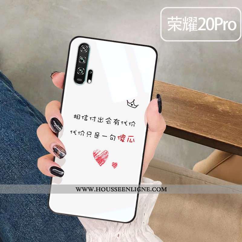 Coque Honor 20 Pro Verre Amoureux Incassable Étui Téléphone Portable Blanc Blanche