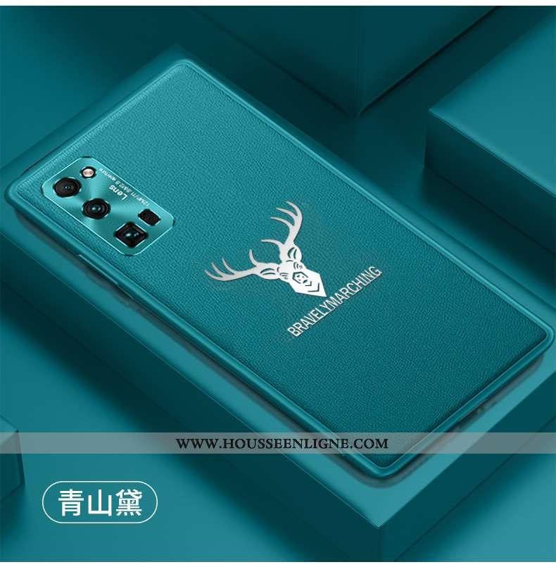 Coque Honor 30 Pro Cuir Fluide Doux Téléphone Portable Silicone Personnalité Étui Bleu Foncé