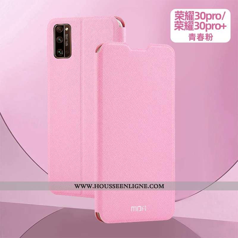 Coque Honor 30 Pro Cuir Silicone Nouveau Téléphone Portable Tout Compris Étui Incassable Rose