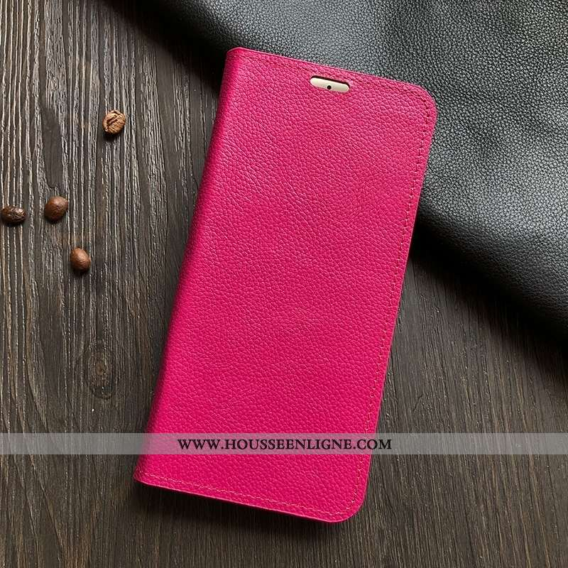 Coque Honor 30 Pro Modèle Fleurie Protection Cuir Véritable Étui Support Téléphone Portable Rose