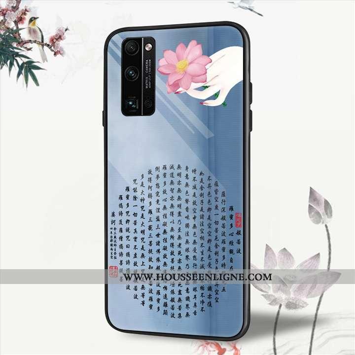Coque Honor 30 Pro Verre Personnalité Créatif Téléphone Portable Tendance Vent Bleu