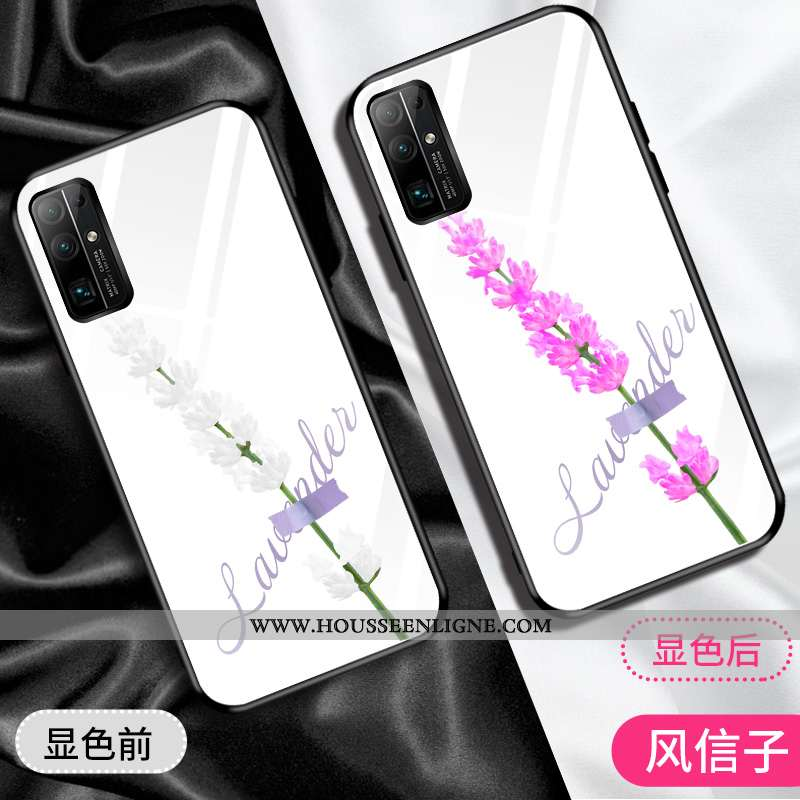 Coque Honor 30 Silicone Protection Fluide Doux Tendance Verre Téléphone Portable Créatif Blanche