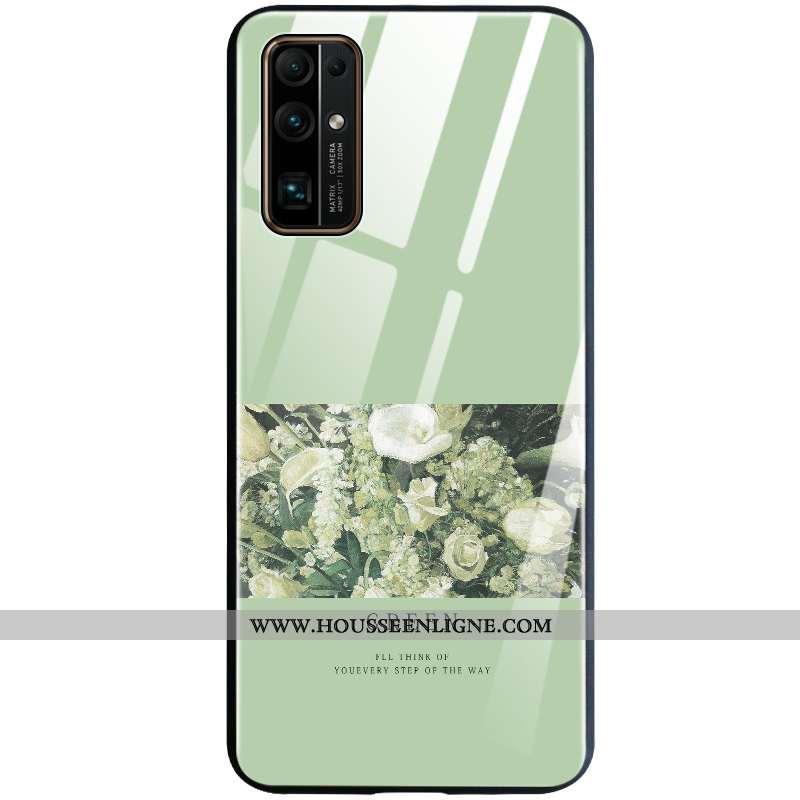 Coque Honor 30 Silicone Verre Incassable Fluide Doux Vert Créatif Verte