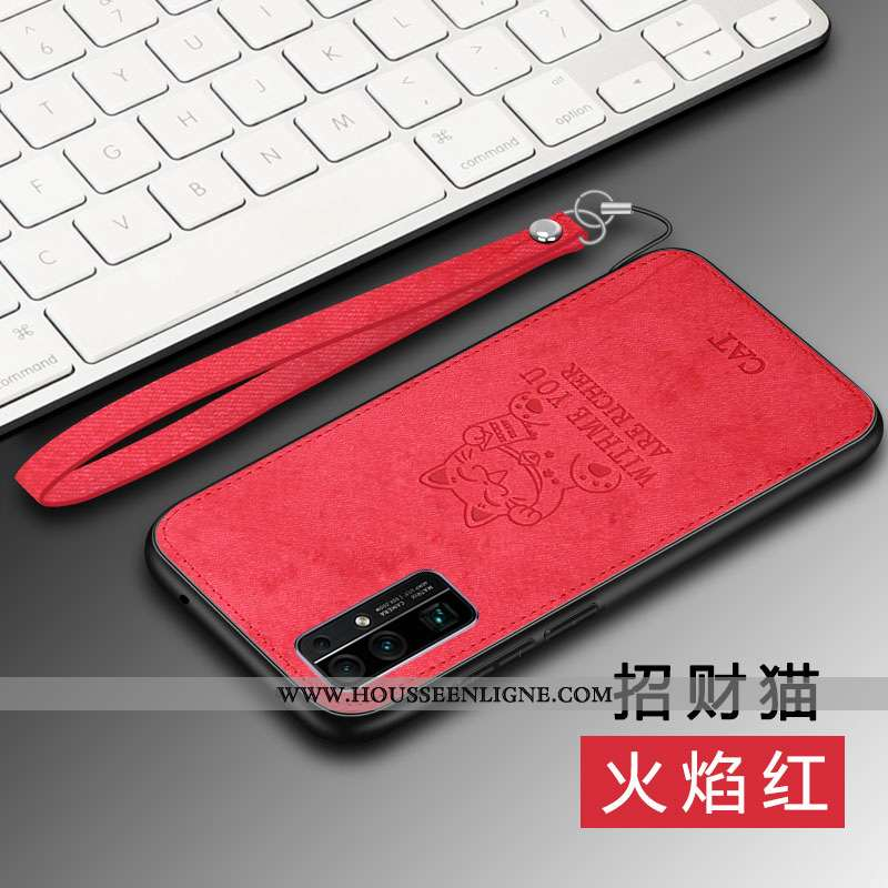 Coque Honor 30 Tendance Cuir Rouge Protection Silicone Charmant Tout Compris