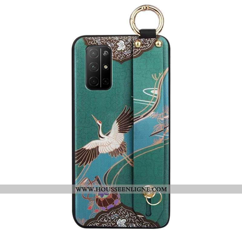 Coque Honor 30s Protection Ornements Suspendus Étui Incassable Style Chinois Téléphone Portable Vert