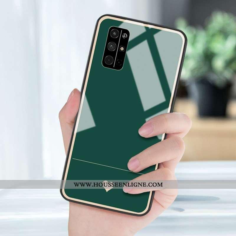 Coque Honor 30s Verre Silicone Petit Protection Miroir Incassable Vert Verte