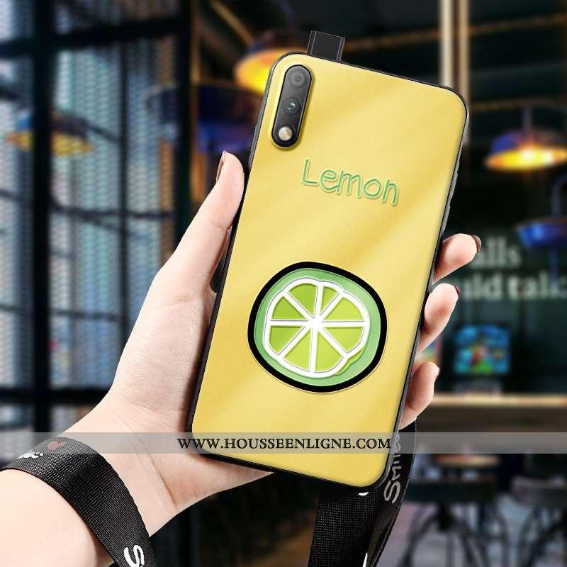 Coque Honor 9x Légère Fluide Doux Jeunesse Charmant Jaune Dimensionnel Silicone