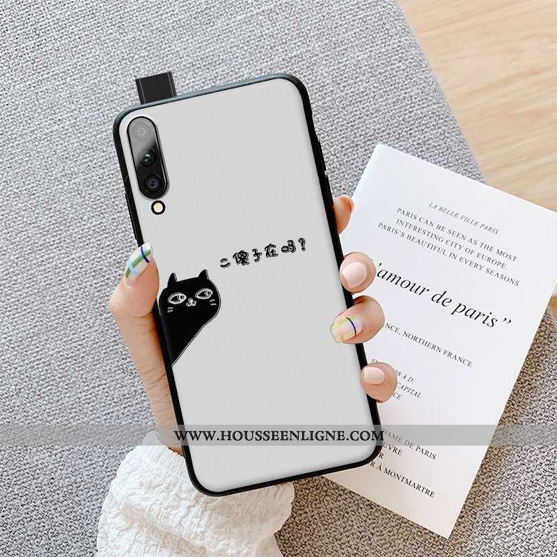 Coque Honor 9x Pro Gaufrage Charmant Amoureux Créatif Jeunesse Protection Téléphone Portable Blanche