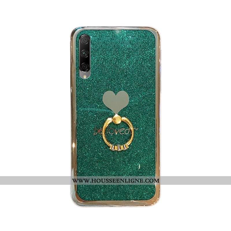 Coque Honor 9x Pro Protection Tendance Vert Amour Rose Étui Fluide Doux Verte