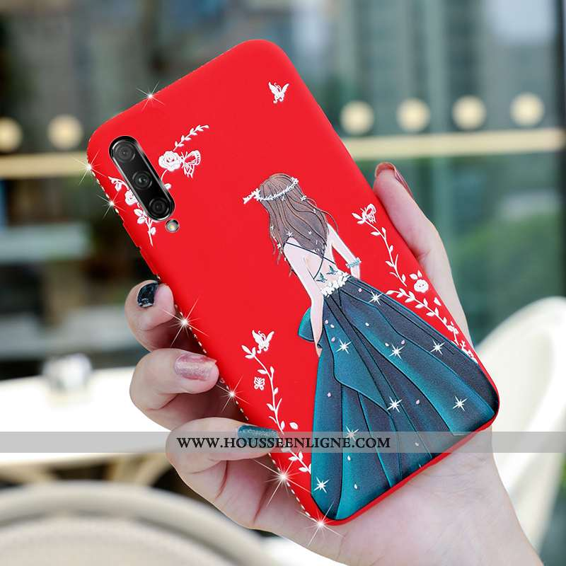 Coque Honor 9x Pro Silicone Protection Téléphone Portable Amoureux Délavé En Daim Ultra Incassable R