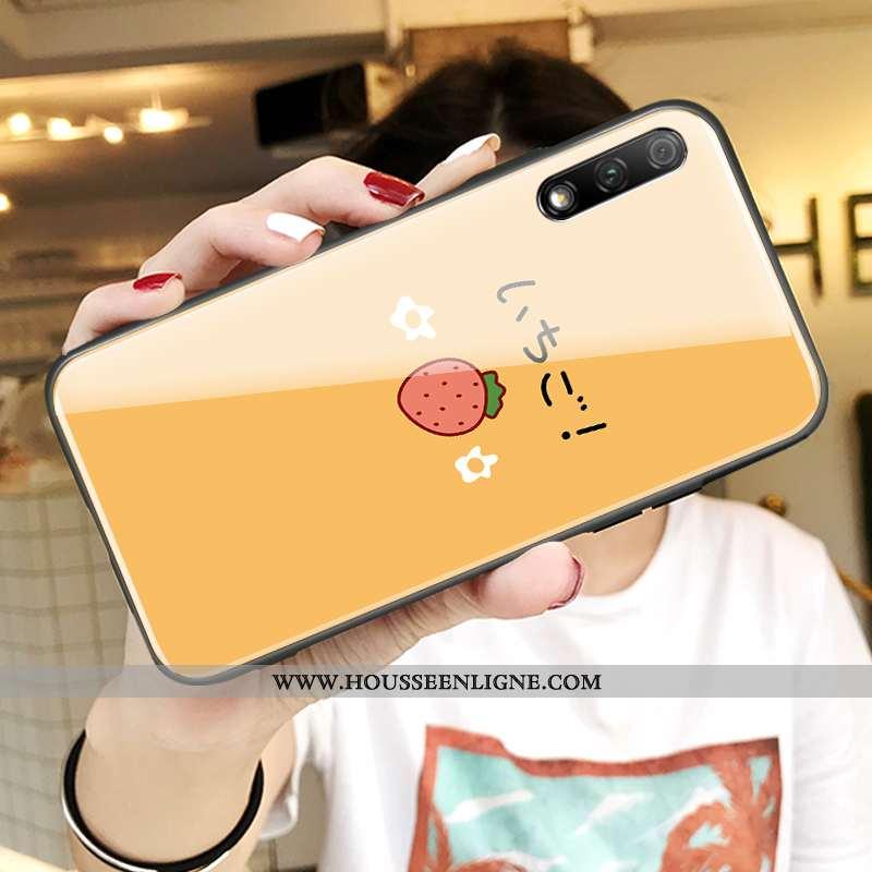 Coque Honor 9x Protection Verre Téléphone Portable Amoureux Tout Compris Personnalité Jaune