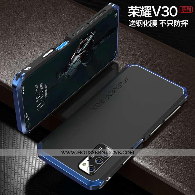 Coque Honor View30 Métal Ultra Téléphone Portable Simple Étui Tout Compris Bleu