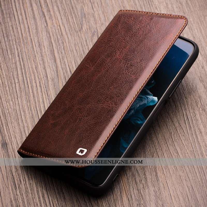 Coque Honor View30 Pro Cuir Protection Business Téléphone Portable Étui Housse Marron