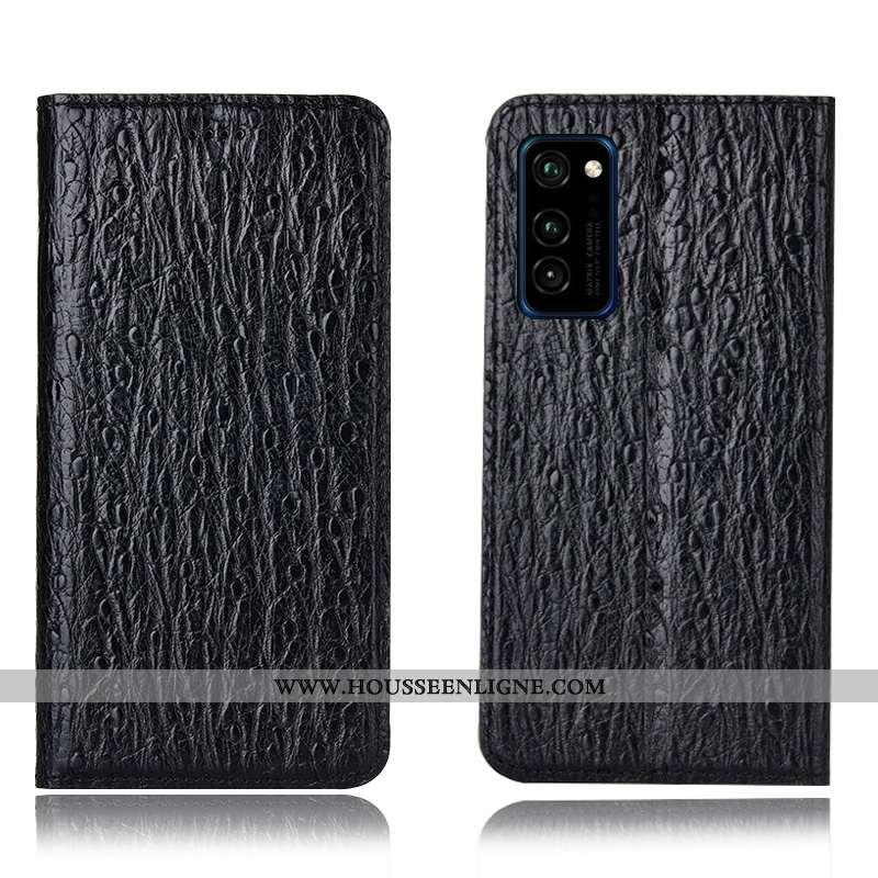 Coque Honor View30 Pro Modèle Fleurie Protection Oiseau Téléphone Portable Incassable Housse Noir
