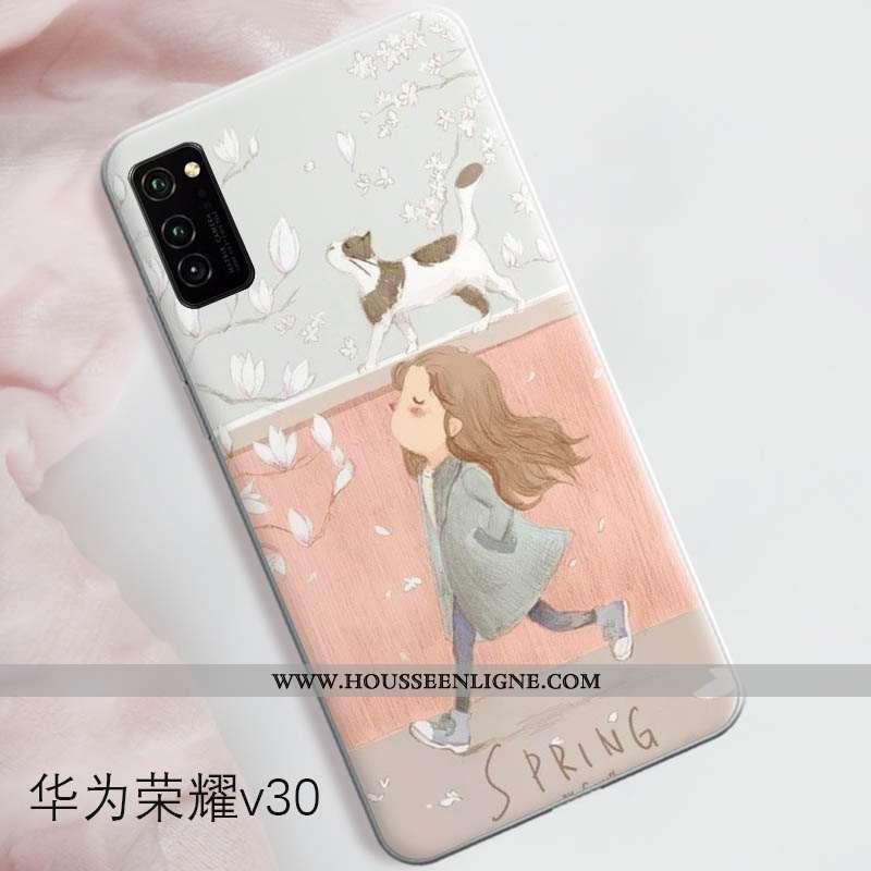 Coque Honor View30 Pro Protection Tendance Tout Compris Rose Téléphone Portable Silicone