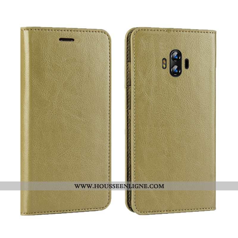 Coque Huawei Mate 10 Cuir Protection Téléphone Portable Clamshell Simple Bovins Verte