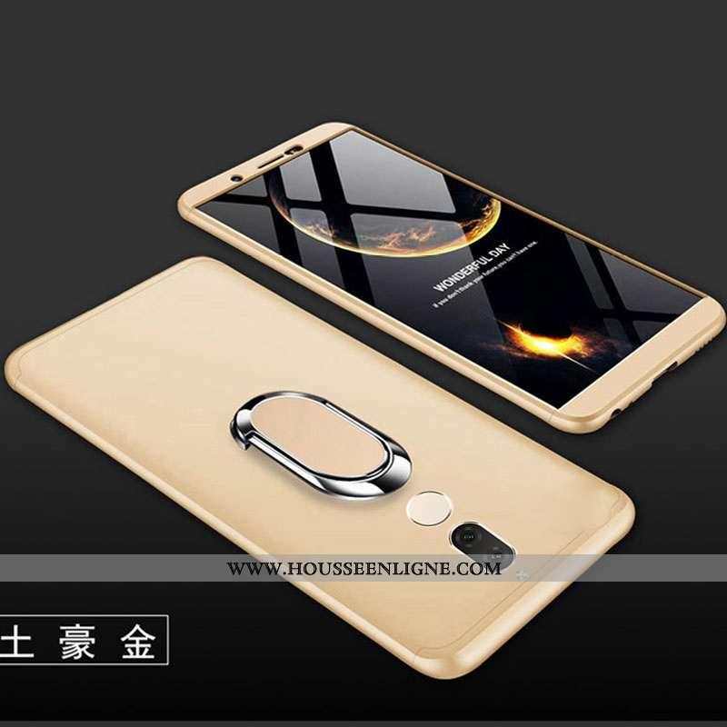 Coque Huawei Mate 10 Lite Créatif Étui Tout Compris Difficile Téléphone Portable Or Doré