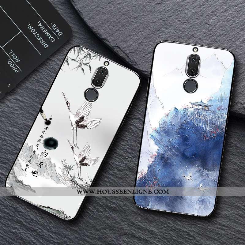 Coque Huawei Mate 10 Lite Créatif Gaufrage Bleu Nouveau Téléphone Portable Incassable