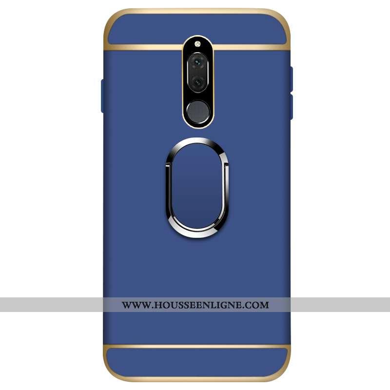Coque Huawei Mate 10 Lite Délavé En Daim Protection Étui Difficile Téléphone Portable Or Bleu