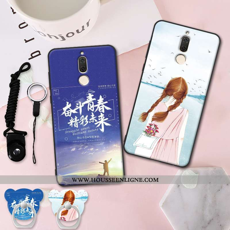 Coque Huawei Mate 10 Lite Protection Délavé En Daim Tout Compris Fluide Doux Incassable Téléphone Po