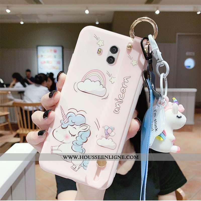 Coque Huawei Mate 10 Personnalité Créatif Fluide Doux Nouveau Cœur Dessin Animé Étui Rose