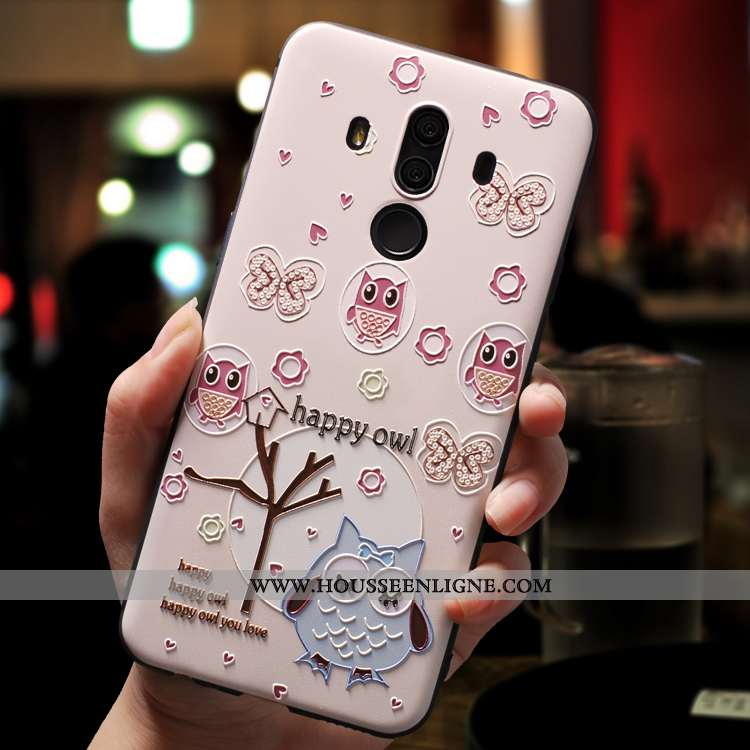 Coque Huawei Mate 10 Pro Dessin Animé Charmant Incassable Silicone Ornements Suspendus Téléphone Por