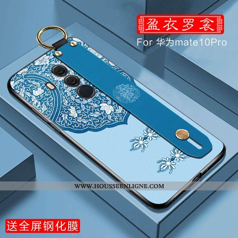 Coque Huawei Mate 10 Pro Légère Fluide Doux Mode Incassable Net Rouge Étui Tout Compris Bleu