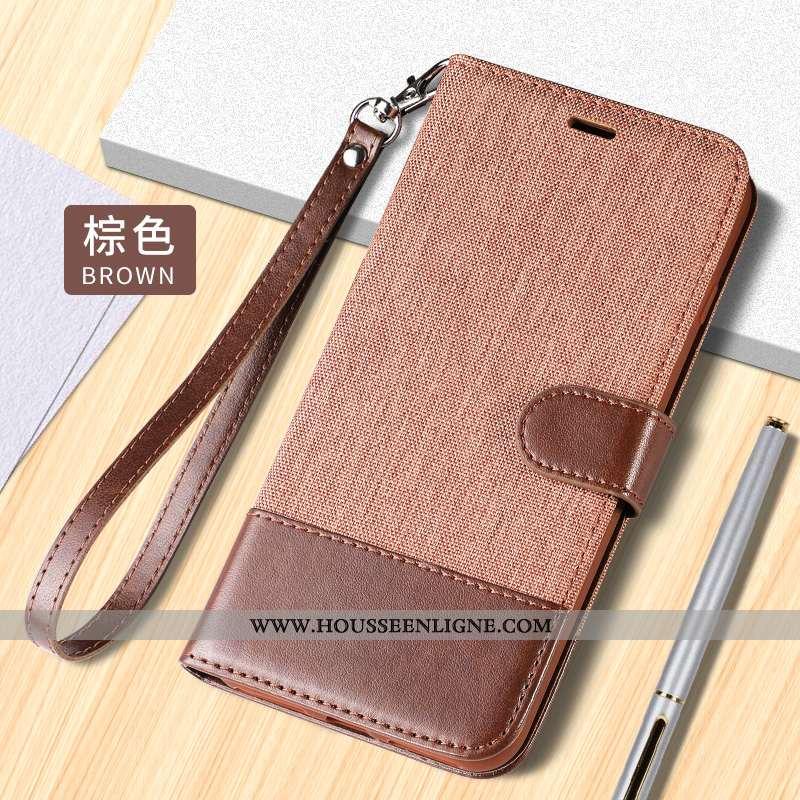Coque Huawei Mate 10 Pro Protection Portefeuille Incassable Étui Housse Téléphone Portable Marron