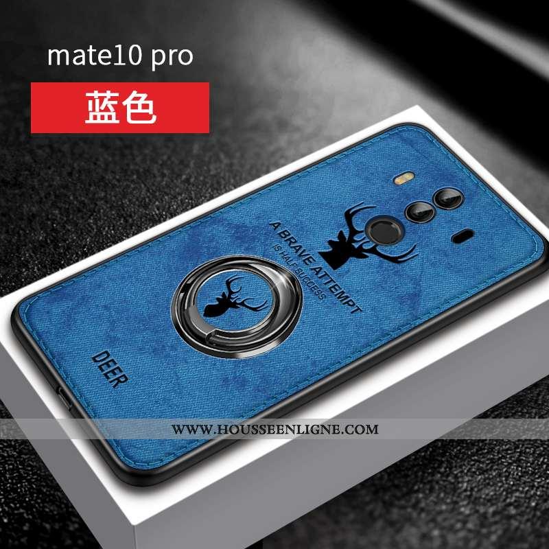 Coque Huawei Mate 10 Pro Silicone Personnalité Magnétisme Support Bleu Fluide Doux Ultra
