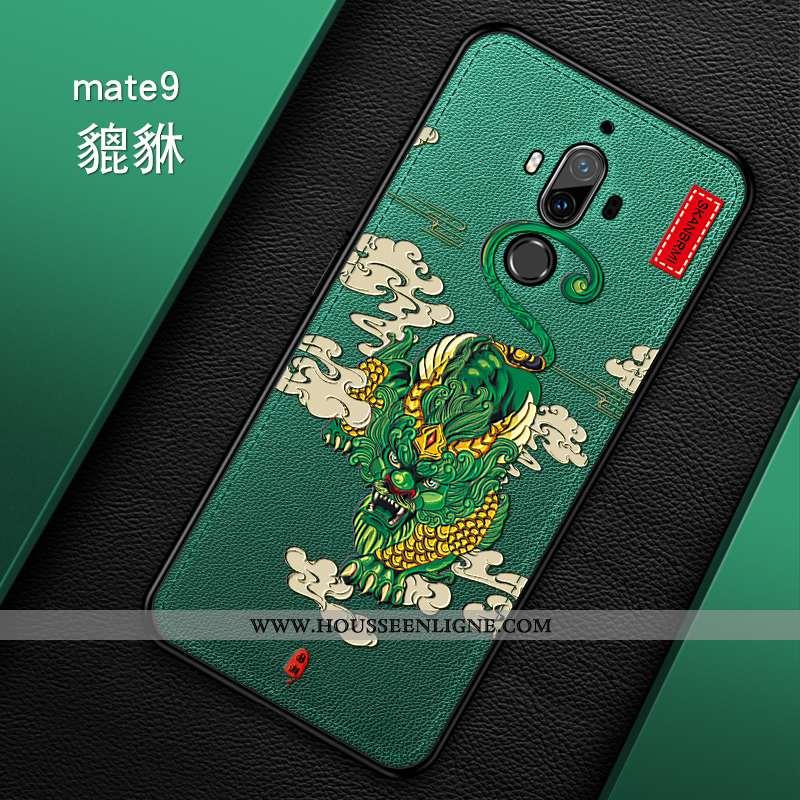 Coque Huawei Mate 10 Pro Ultra Tendance Créatif Cuir Mode Légère Verte