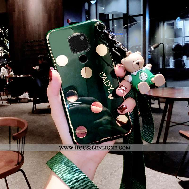 Coque Huawei Mate 20 Légère Fluide Doux Créatif Tendance Personnalité Tout Compris Verte