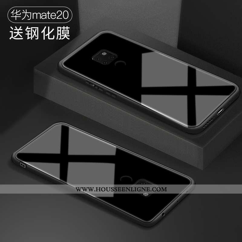 Coque Huawei Mate 20 Légère Silicone Difficile Personnalité Protection Simple Noir