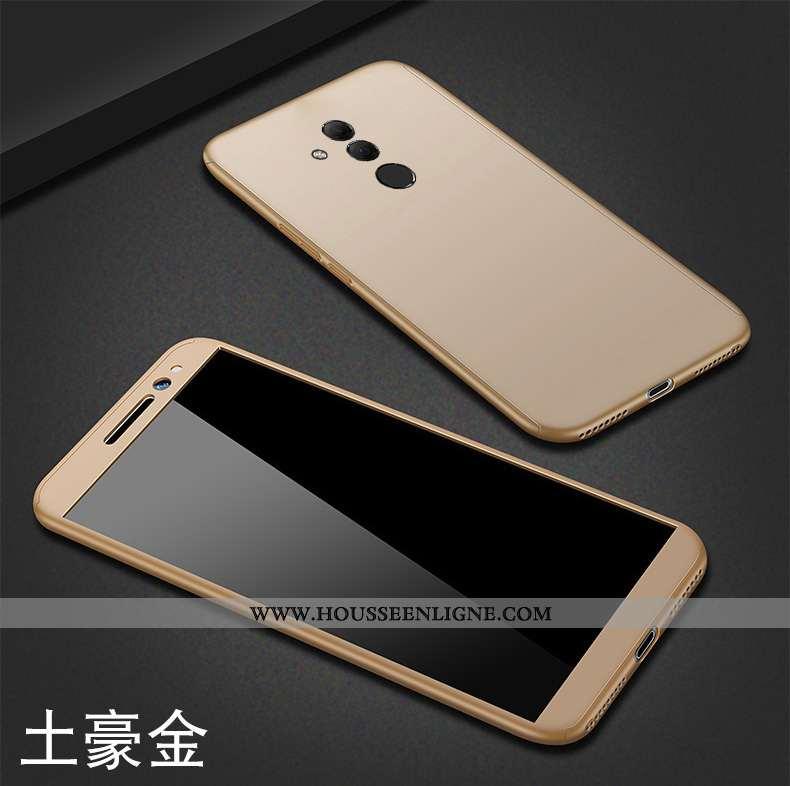 Coque Huawei Mate 20 Lite Délavé En Daim Personnalité Créatif Tout Compris Légère Or Téléphone Porta