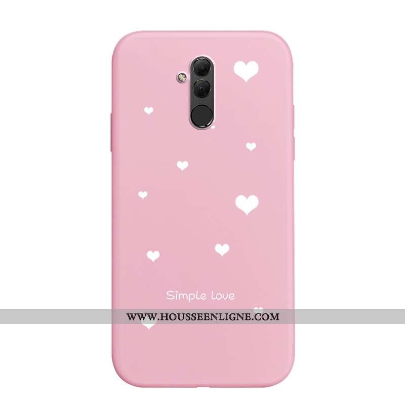 Coque Huawei Mate 20 Lite Fluide Doux Silicone Nouveau Rose Simple Créatif