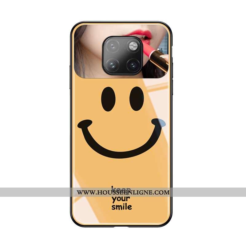 Coque Huawei Mate 20 Pro Créatif Charmant Jaune Personnalité Souriant Amoureux Ultra