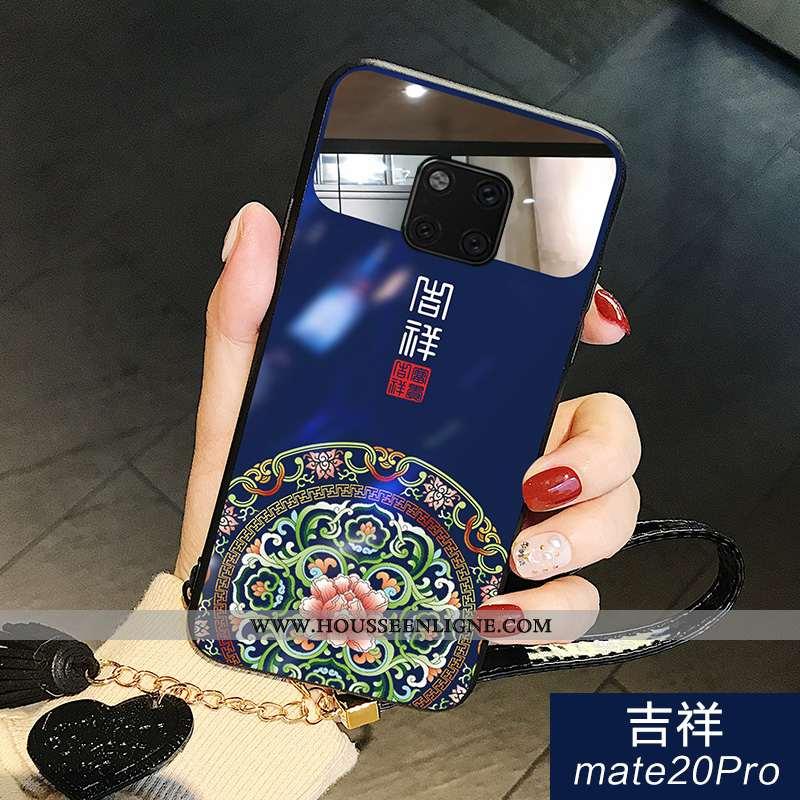 Coque Huawei Mate 20 Pro Créatif Tendance Verre Miroir Bleu Tout Compris Net Rouge