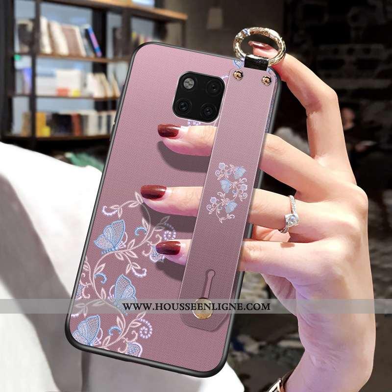 Coque Huawei Mate 20 Pro Créatif Ultra Incassable Personnalité Étui Style Chinois Rose