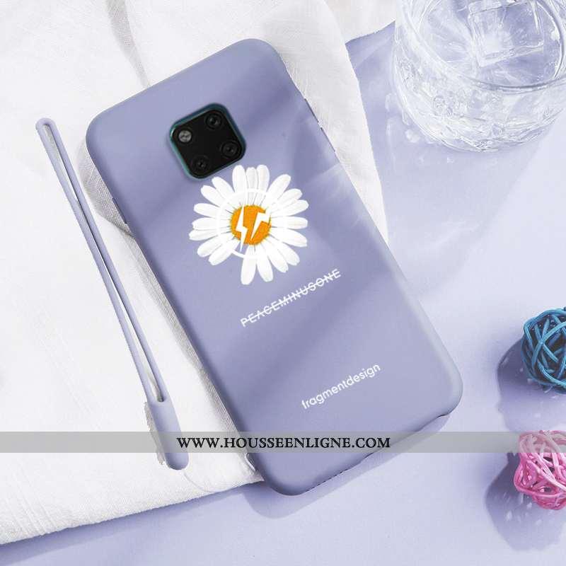 Coque Huawei Mate 20 Pro Fluide Doux En Silicone Étui Bleu Incassable Simple Créatif