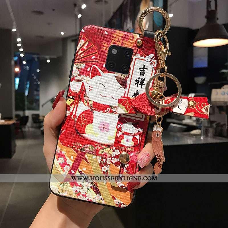 Coque Huawei Mate 20 Pro Personnalité Créatif Rouge Incassable Fluide Doux Richesse Tout Compris