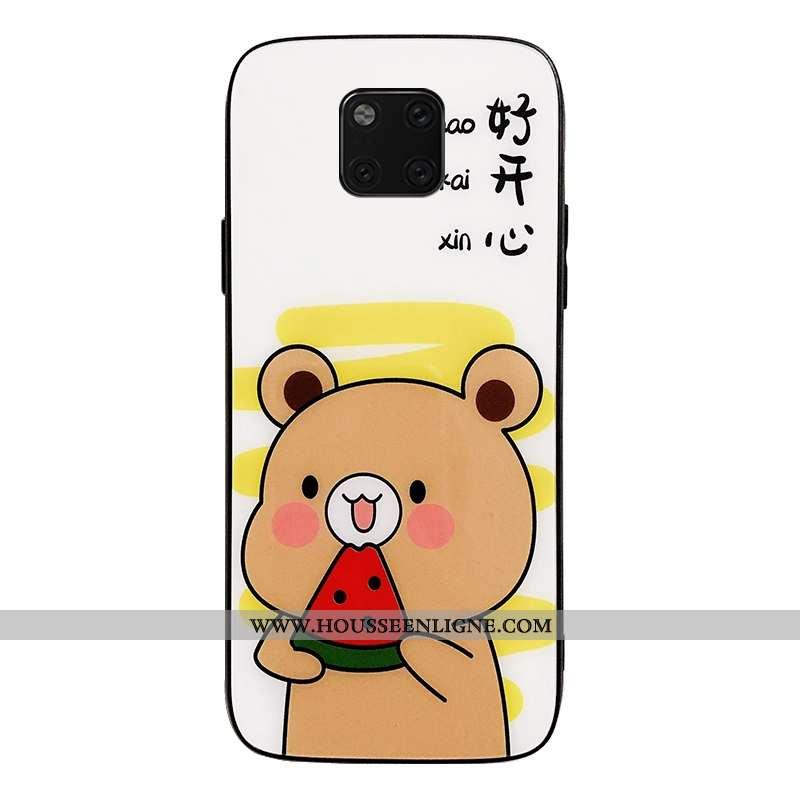 Coque Huawei Mate 20 Pro Protection Tendance Étui Support Incassable Téléphone Portable Blanche