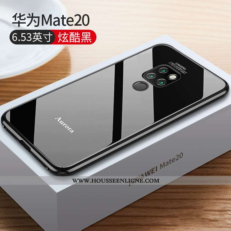 Coque Huawei Mate 20 Protection Métal Incassable Tendance Légère Net Rouge Border Noir
