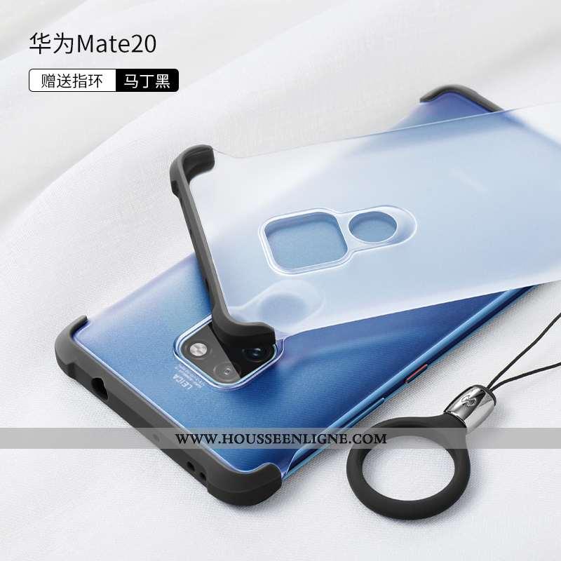 Coque Huawei Mate 20 Protection Transparent Délavé En Daim Silicone Ultra Ballon Bleu